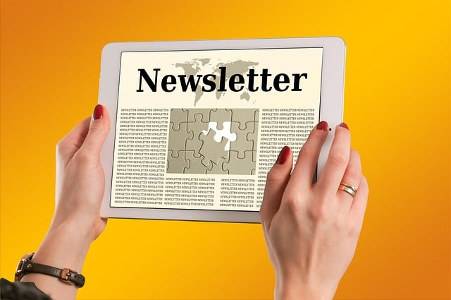 Newsletter na tablecie